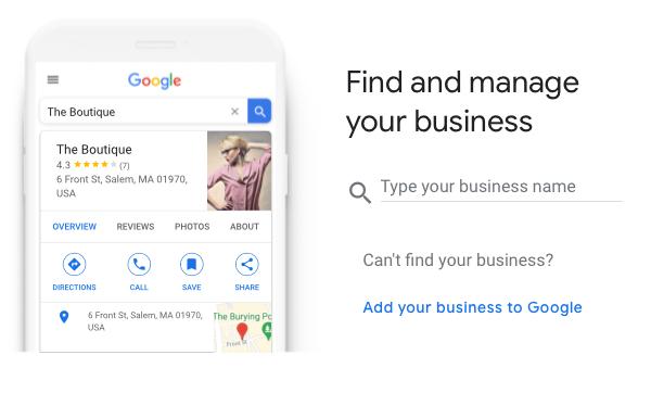 Find Business ScreenShot of Google My Business Setup