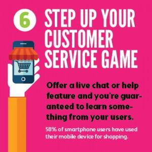 Mobile apps improve customer service