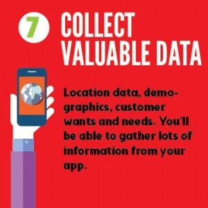 Mobile apps collect data