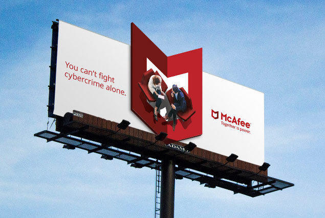 McAfee's successful rebranding example from rebrand 100